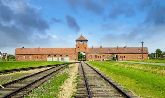 The former concentration camp in Birkenau
